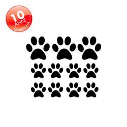 Adesivo cane zampa 10 zampette