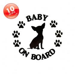 Adesivo cane Chihuahua a bordo